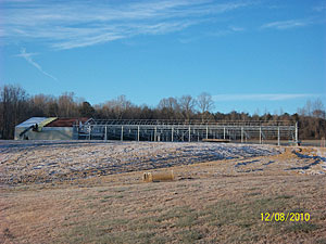 Framework and floors in place for new Greenhouse at Owens Garden Center and Landscaping in Somerset, KY