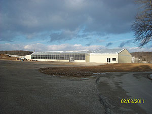 Nearly completed Greenhouse at Owens Garden Center in Somerset, Kentucky.